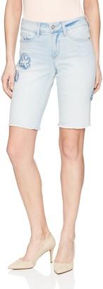 NYDJ Women's Briella Short with Applique