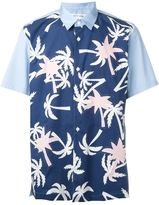 Comme des Garcons palm tree print shortsleeved shirt