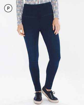 Zenergy So Slimming Petite Knit Denim Ankle Jeggings