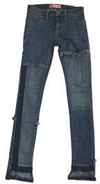 Blank NYC Girls' Past Curfew Patchwork Skinny Jeans