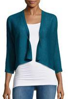 Eileen Fisher Linen Cropped Open-Front Jacket