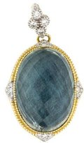 Jude Frances Diamond & Labradorite Doublet Enhancer Pendant