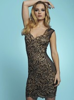 Baccio Couture - Janet Painted Short Dress