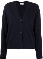 Closed relaxed-fit knitted cardigan