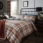 Catherine Lansfield Cotton Blend Animal Tartan Check Quilt Duvet Cover Bedding Set & Pillowcase Heritage Kelso UK Double