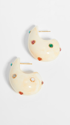 Lizzie Fortunato Arp Earrings In Dotted Cream