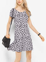 Michael Kors Leaf-Print Jersey Dress Petites