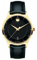 Movado 1881 Automatic Goldtone Stainless Steel & Leather Strap Watch
