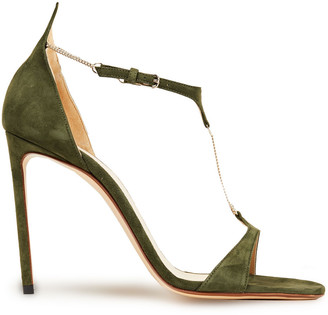 Francesco Russo Chain-embellished Suede Sandals