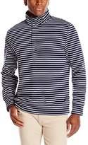 Nautica Men's 1/4 Zip Striped Mock Neck Sweater With Placket