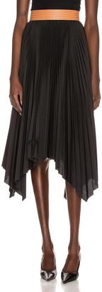 Loewe Pleated Skirt in Black & Tan | FWRD