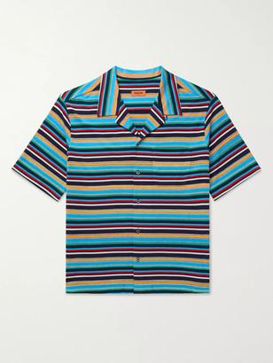 Missoni Camp-Collar Striped Cotton-Jersey Shirt