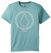 Volcom Pin Line Stone Short Sleeve Tee Boy's T Shirt