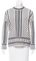 Tory Burch Jacquard Wool Sweater