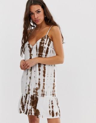 Influence cami mini beach dress-White
