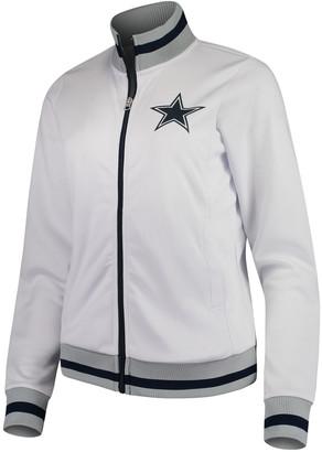 G Iii Women's White Dallas Cowboys Field Goal Full-Zip Track Jacket