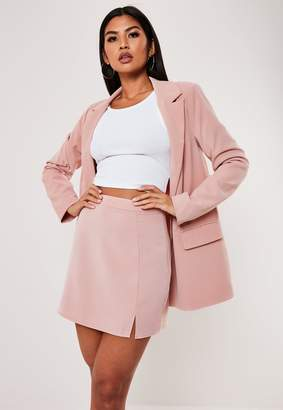 Missguided Pink Co Ord Side Split A Line Mini Skirt