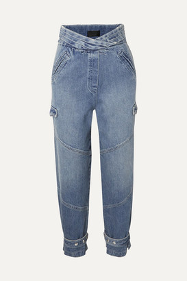 RtA Dallas Cropped High-rise Tapered Jeans - Mid denim