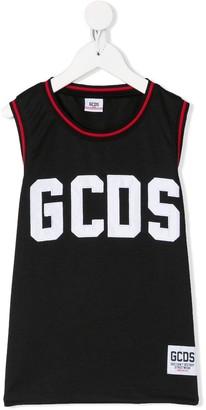 Gcds Kids Contrast Trim Vest Top