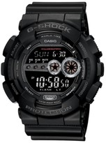 Thumbnail for your product : G-Shock Men's Xl Digital Black Resin Strap Watch GD100-1B