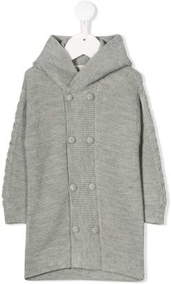 Cashmirino Hooded Knit Coat