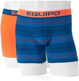 Men's equipo 2-pack Solid & Striped Microfiber Boxer Briefs