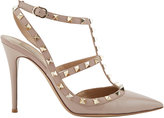 Valentino Women's Rockstud Patent Leather Caged Pumps