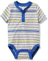Old Navy Striped Henley Bodysuit for Baby