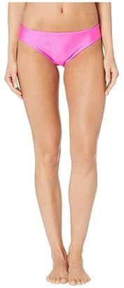 Luli Fama Cosita Buena Seamless Full Ruched Back Bottom (Poppin Pink) Women's Swimwear