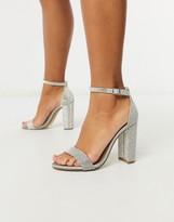 Steve Madden Carrson strappy heeled sandal in rhinestone