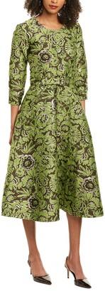 Samantha Sung Deborah Silk Midi Dress