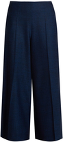 Maison Margiela Mid-rise wide-leg stretch-wool long culottes