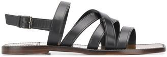 Silvano Sassetti Intreccio leather 15mm sandals