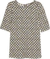Stella McCartney Corinne printed stretch-crepe top
