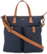 Zanellato contrast tote bag - men - Leather/Canvas - One Size