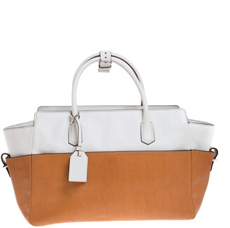 Reed Krakoff Tan/White Leather Atlantique Tote