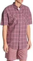 Zanerobe Rugger Windowpane Short Sleeve Regular Fit Shirt