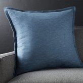 "Crate & Barrel Linden Indigo Blue 23"" Pillow"