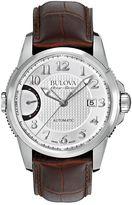 Bulova Men's Accu Swiss Automatic Leather Watch - 63B171