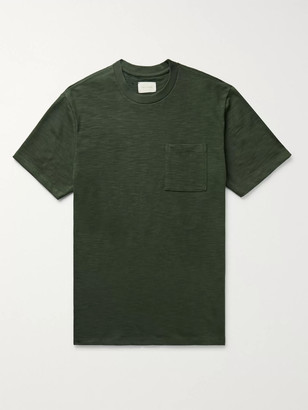 Aimé Leon Dore Melange Slub Cotton-Jersey T-Shirt - Men - Green