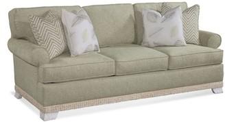 "Braxton Culler Fairfax 90"" Recessed Arm Sofa Bed Fabric: White Stripe"