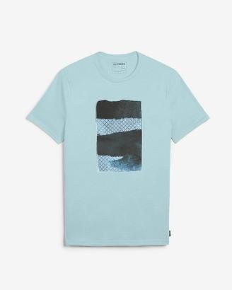 Express Blue Brushstroke Graphic T-Shirt