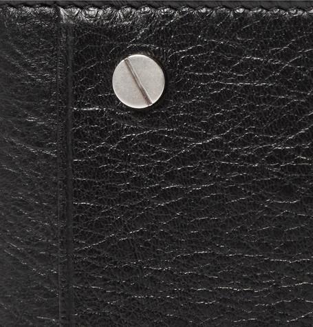 Balenciaga Arena Creased-Leather Billfold Wallet