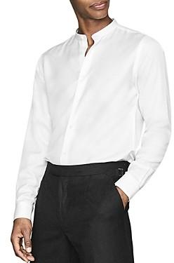 Reiss Mcalan Grandad Collar Slim Fit Shirt