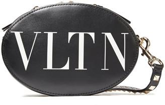 Valentino Logo-print Leather Shoulder Bag