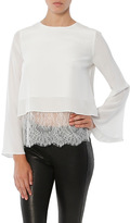 SALE CAMI NYC The Bell Long Sleeve Lace Combo Top