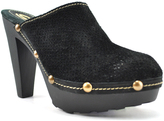 Sbicca Black Lettie Leather Clog