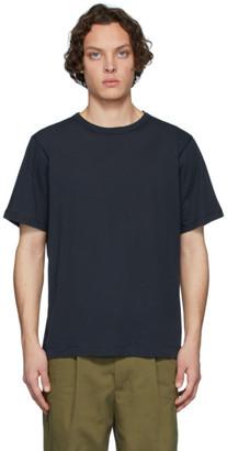 Dries Van Noten Navy Cotton T-Shirt