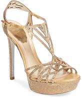 Rene Caovilla Women's Studded High Heel Platform Sandal