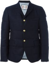 Moncler Gamme Bleu padded blazer jacket - men - Cotton/Feather Down/Cupro/Wool - 3